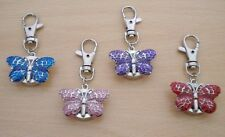 LADIES/GIRL'S/NURSE'S BUTTERFLY KEYRING/KEYCHAIN WATCH (PINK,RED,PURPLE,BLUE)