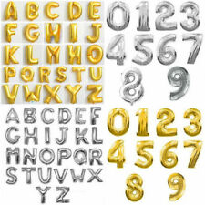 """16"""" Silver Gold Letter Numbers Foil Balloons Celebration Birthday Party Decor"""