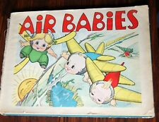 1936 1st Ed Air Babies Elvy Kalep Amelia Earhart RARE Children's Book Airplanes