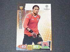 DIEGO ALVES  VALENCIA UEFA PANINI FOOTBALL CARD CHAMPIONS LEAGUE 2011 2012