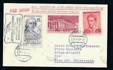 43446) AUA FF Wien - Athen Greece 2.12.59, Karte ab CSSR