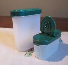 Tupperware   HUNTER GREEN dark LARGE & SMALL Spice set of 2 MODULAR MATES