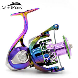 CAMEKOON Colorful 5.2:1 Gear Ratio Spinning Reel Aluminum Body Saltwater Fishing