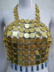 Acrylic Sequins Vest Chain Necklace Bra Body Chain Beach Bikini Party Jewelry