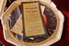 "Hamilton Collection Star Trek The Voyagers Plate ""U.S.S. Excelsior"" Nib"