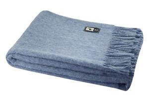 Superfine Natural Alpaca Yarn & Merino Wool Woven Blanket Fringed Throw