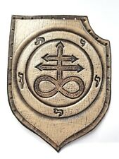 LEVIATHAN CROSS  ANTIQUE NATURAL COLOR  GENUINE LEATHER  PATCH