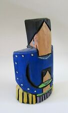 """Signed Navajo Sculpture Wood Carving Mother & Child 11"""""""