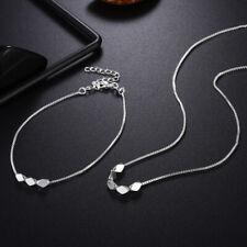925 Sterling silver Fashion wedding Women charms cute necklace Bracelet set LS12