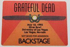 Grateful Dead Backstage Pass 5-16-1993 UNLV Las Vegas Rick Griffin artwork