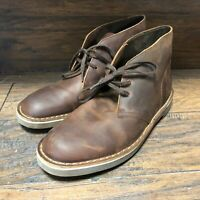 Mens Original Clarks Chukka Boots Brown Leather 15522 / Clark Shoe Size 9 M