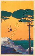Cartolina pubblicità Società aerea mediterranea - 1934 / illustratore Venturini