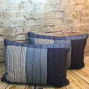 "Levi's x Target Limited Edition 14""x20"" Patchwork Blue Lumbar Throw Pillows (2)"