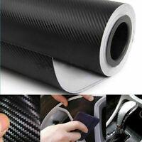 "5D 12""x60"" Ultra Shiny Gloss Glossy Black Carbon Fiber Vinyl Wrap Sticker Decals"