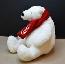 "Coca Cola White Polar Bear with Scarf 8"" Plush Stuffed Animal"