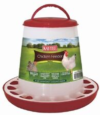 Poultry Chicken Feeder Med. 5 lbs Handle Hanging Scratch Guard, Assorted Colors