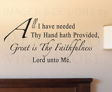 Wall Sticker Decal Quote Vinyl Art Lettering All I Have Needed God Religious R48