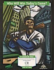 1999 Tampa Bay Devil Rays Scorecard 20 July 1999 VS Philadelphia Phillies