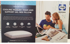 New! Sealy Premium Cooling Memory Foam Support Gel Bed Pillow United States Made