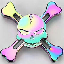 Cool Skull Hand Fidget Spinner Toy EDC Toy Rainbow Best pinner Gift Kids Adult