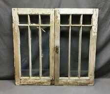Pair Antique Mission Arts Crafts Casement Window Cabinet 16x30 Vtg 514-20B