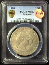 1900 Lafayette DuVall-1A PCGS MS62 Commemorative Silver Dollar [inv 2008]