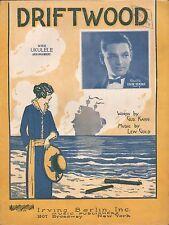 DRIFTWOOD jazz song LEW GOLD & GUS KAHN Eddie Elkins ART DECO BEACH, WOMAN 1924