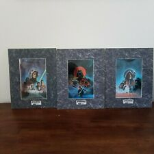 STAR WARS LUCASFILM CHROMART Chrome Art Print Limited Edition - lot of 3