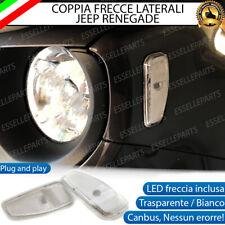 COPPIA FRECCE LATERALI A LED BIANCHE JEEP RENEGADE CANBUS INDICATORI DIREZIONE
