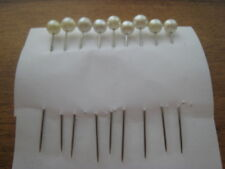 "9 PEARL LOOK TOP 2"" HAT PINS OR ETC"