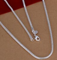 6mm Herringbone Necklace Sterling Silver 925 Italian Chain 18,20,22,24,30 Inch