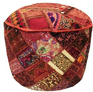 33% Off Pouf Ottoman Pouffe Foot stool Round Decorative Poof Floor Pillow Cover