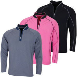 Règle 18 Homme Tech F1 1//4 Zip Wicking Pullover Sweater 56/% off RRP