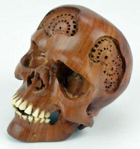 Schädel, Totenkopf, Skull aus Hartholz, Gothic, 11cm