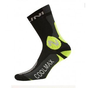 Nalini Podagria Coolmax Tall Cycling Socks – Black and Green - Choose Size: