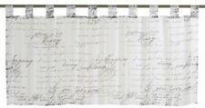 Bistrogardine Loveletter schwarz - weiß transparent 140x48cm