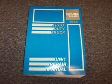 1992 GMC Safari Van Transmission Shop Service Unit Repair Manual SLE SLT 4.3L V6