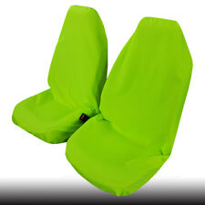 Green Throw Over Slip On Car Seat Cover Polyester Car Interior Accessories 2pcs