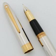 Sheaffer Crest (Reissue) #594 Fountain Pen - Palladium GT, 18k Med (New in Box)