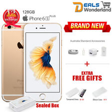 New Sealed Box Apple iPhone 6S Plus + 128GB Mobile Phone Amber Gold Unlocked