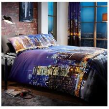 New York Night King Size Bedding Set Duvet Quilt Cover With Pair Of Pillowcases