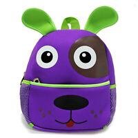 Cute Kid Toddler Backpack Kindergarten Schoolbag 3D Cartoon Animal Bag Purple