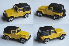 Majorette - Jeep Wrangler Rubicon gelb