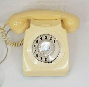 Vintage Rotary Phone Cream Converted 1983 Retro Original