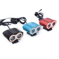 6000LM 2x XML T6 LED Bike Bicycle Headlight Light 4X18650+Rear La._