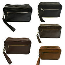 Pochette Uomo Polso Vera Pelle Nero Marrone Borsello Mano Beauty VIETRI LEATHER