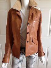 Jil Sander Brown Leather Jacket Blazer 38 IT 6 US 4