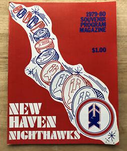 Vintage 1979 AHL New Haven Nighthawks vs Maine Mariners Program
