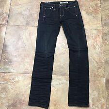 Levis Engineered Black Denim Rigid Stiff Twisted Seam Jeans Size 28 (31x35.5)