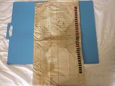 VELLUM DOCUMENT - 1845 – HAND WRITTEN WITH 47 Wax Seals. Stock Subscription